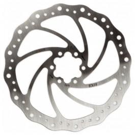 ELVEDES - disque de frein 6 trous SX18 inox 180 mm + 6 vis