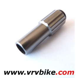 "JAGWIRE - vis reglage ""Mini inline adjuster"" tension cable gaine frein derailleur TITANIUM (1 pce)"