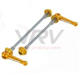 KCNC - Blocages roue serrage rapide Z6 alu/acier VTT 175 mm GOLD DORE
