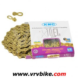 KMC - chaine 10 vitesses X10-EL double X Ti-N GOLD