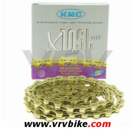 KMC - chaine 10 vitesses X10-SL super light double X Ti-N GOLD