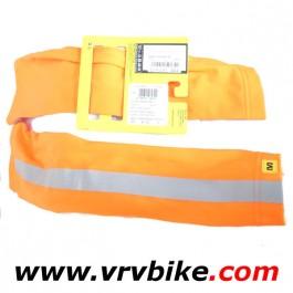 MAVIC - manchettes orange fluorescent reflechissant Vision Arm Warmer taille XL