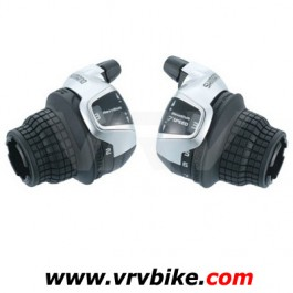 SHIMANO - paire manette commande shifter tournant Revo Shift RS47 3 X 7 avec cables et gaines