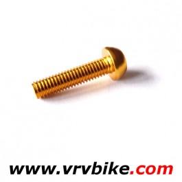 XXX - vis aluminium ultralight M5x20mm porte bidon GOLD DORE OR