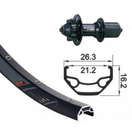 XLC - RODY - roue VTT 650B 27.5' disque 6 trou noir axe 9 mm ARRIERE seule