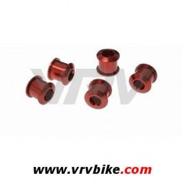 XXX - Jeu kit vis écrous aluminium pour plateaux (2 X 5 pieces) standards LONGUES ROUGE