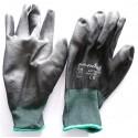 BULL FLEX - gants long travail mécanicien manutention PU 10312 souple noir taille 9 - L