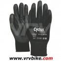 CYCLUS - gants long travail mécanicien manutention PU flex souple noir 4 tailles (M a XXL)