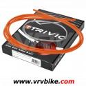 ELVEDES - TRIVIO - Kit cables / gaines complet av+ar derailleur ORANGE