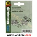 KMC - attache rapide chaine missing link 11 vitesses X11 sram shimano campagnolo silver (2 paires)