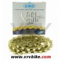 KMC - chaine 9 vitesses X9-SL super light double X Ti-N GOLD