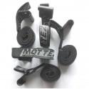 MOTTEZ - sangle pour porte velo sur hayon Noir avec crochet (6 pieces)