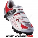PEARL IZUMI - chaussures VTT MTB Race Dame rouge / blanc / argent taille 42