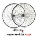 RIGIDA - SHIMANO - paire de roues VTT ZAC2000 / moyeu deore V brake noir