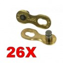 SRAM - sac de 26 attaches rapide power link gold 9 v (26 paires)