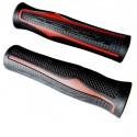 VIPER - grips poignées caoutchouc double densité confort noir et rouge