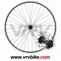XXX - Roue avant hybride citybike 28 vtt 29 ZAC 19 / SHIMANO deore V brake noir