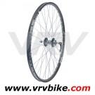 REMERX - JOYTECH - roue AVANT 26' VTT jante rocky double paroi disque 6 trous noir 9 mm QR