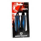 VIPER - grips poignées caoutchouc double densité confort noir et bleu