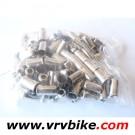"""XXX - 10 arrets de gaine acier """"vintage"""" 12 mm long gaine frein derailleur 6 mm motoculteur velomoteur tondeuse"""