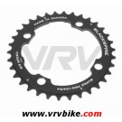 BLACKSPIRE - plateau VTT SUPER PRO NOIR 4 trous 104 - 34 Dents