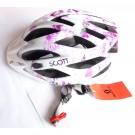 SCOTT casque velo Groove 2 tout usage blanc et un peu de rose dame taille M 55-59 cm