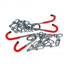 XXX - support velo 2 chaines + 2 crochets rouge fixation plafond (rangement entretien reparation)