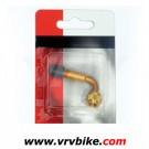 XXX - adaptateur gonflage coudé 90° pour  valve Schrader couleur gold