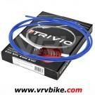 ELVEDES - TRIVIO - Kit cables / gaines complet av+ar derailleur BLEU