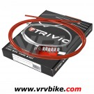 ELVEDES - TRIVIO - Kit cables / gaines complet av+ar Frein Route ROUGE
