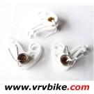 FROG LEGS - etriers freins cyclocross BLANC PIECES DETACHEES 3 etriers et ressorts de rappel