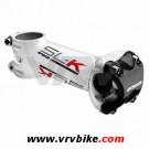 """FSA - potence SLK SL-K aluminium BLANC """"K"""" rouge capot carbone +/-6° 100 mm"""