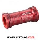 KCNC - boitier adaptateur Press fit BB 86 vers pedalier standard route ROUGE