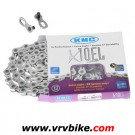KMC - chaine 10 vitesses X10-EL double X Ti-N SILVER