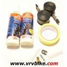 NO FLATS - Joe's kit conversion Tubeless 2 roues 2 X 125 ml JAUNE PRESTA 19-25 26' 650B 27.5' et 29' .