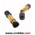 NO FLATS - valves tubeless SCHRADER gold ( 2 X )