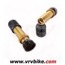 NO FLATS - valves tubeless SCHRADER gold ( 2 X )