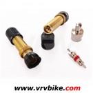 NO FLATS - valves tubeless SCHRADER gold ( 2 X ) + accessoires (interieur + cle)