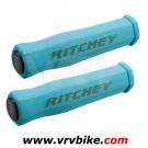 RITCHEY - grips poignées WCS True Grip mousse BLEU clair + bouchons