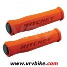 RITCHEY - grips poignées WCS True Grip mousse ORANGE + bouchons