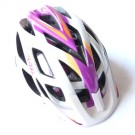 "SCOTT casque velo fille Spunto Contessa ""White/purple"" blanc et rose/mauve taille unique 50-56 cm"
