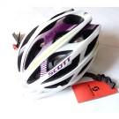 SCOTT casque velo WIT R tout usage blanc et un peu de mauve et vert clair grande taille unique 59-62 cm