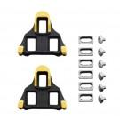 SHIMANO - cales pour pédales automatiques route SPD SL SM-SH11 liberté 6° jaune