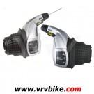 SHIMANO - paire manette commande shifter tournant Revo Shift RS47 3 X 8 avec cables et gaines