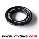 SHIMANO - ecrou boulon rondelle filetee fixation disque frein centerlock noir SM-HB20 15 20 thru axle