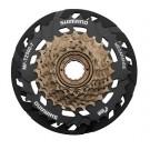 SHIMANO - cassette roue libre a visser 7 vitesses MEGA MF-TZ500 (idem TZ31) 14-34