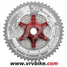 SUNRACE - cassette vtt 11 vitesses CSMX80 gris rouge 11-50
