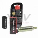XXX - TRIVIO - Gonfleur adaptateur CO2 + 1 cartouche CO2 filet 16 grs