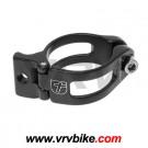 XXX - collier pour dérailleur avant aluminium noir 31.8
