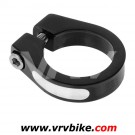 XXX - collier de serrage tige de selle alu a vis 34.9 34,9 mm NOIR + usinage SILVER